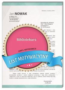 List motywacyjny bibliotekarz