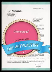 List motywacyjny choreograf